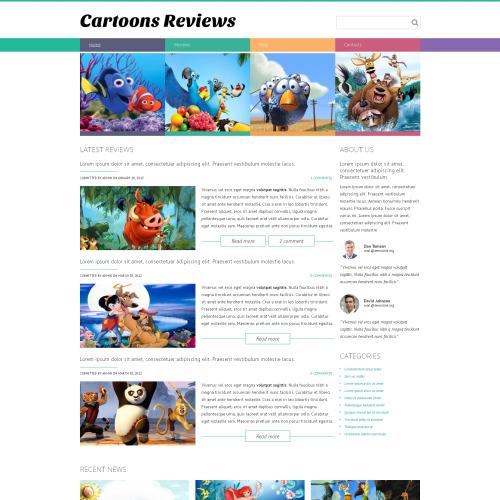 Cartoons Reviews - HTML5 Drupal Template