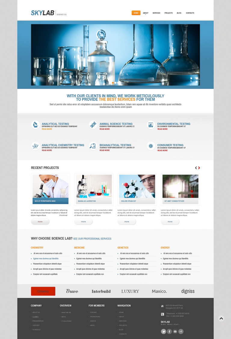 Multi-Purpose Chem Lab WordPress Theme New Screenshots BIG