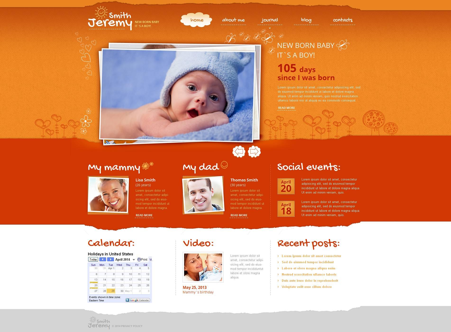 Newborn Moto CMS HTML Template
