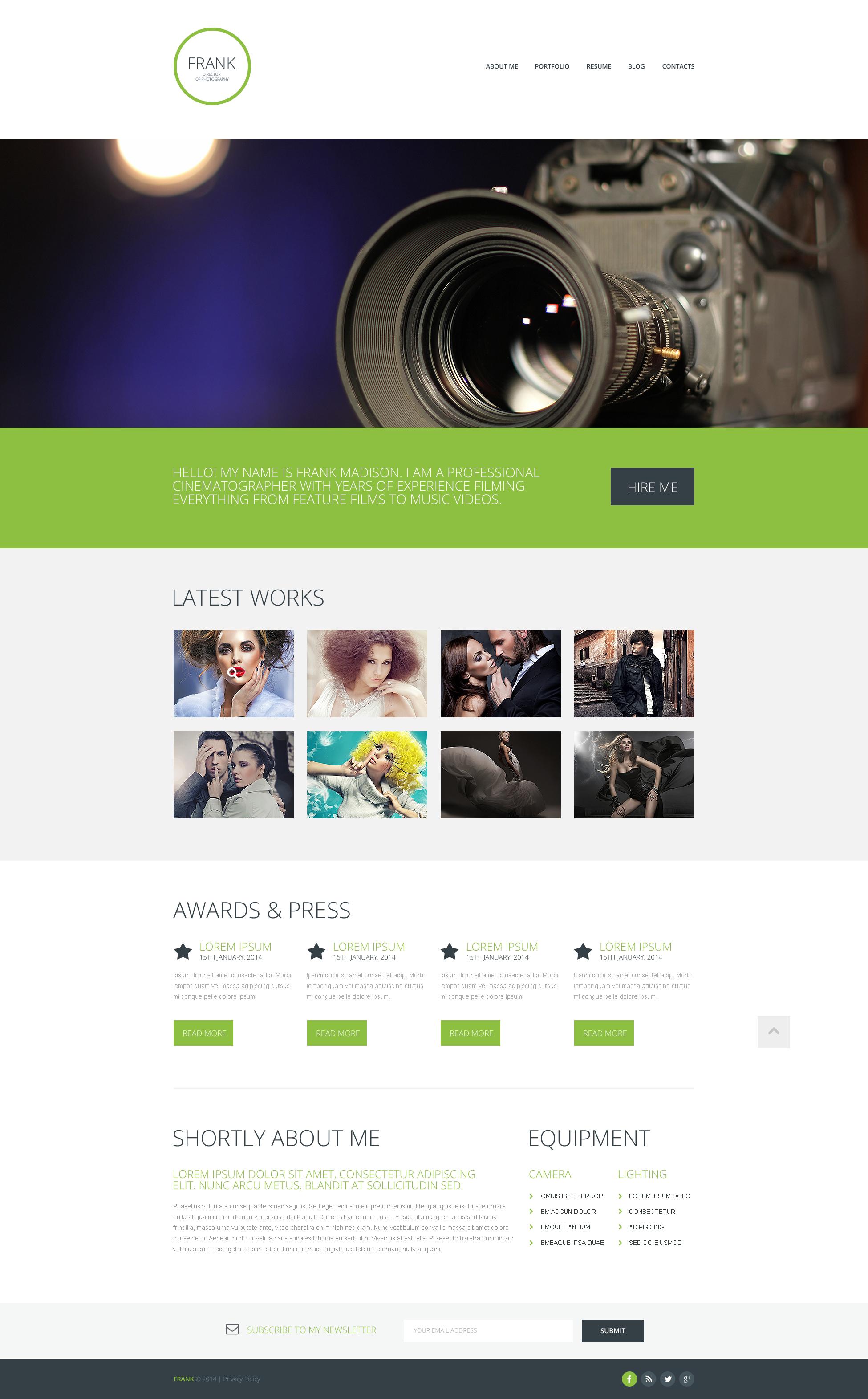 Photographer Portfolio Responsive Website Template