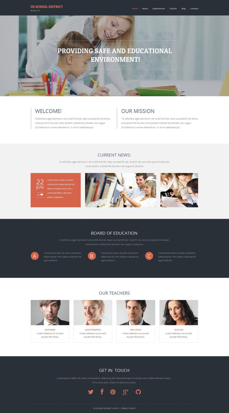 Primary School Responsive WordPress Theme New Screenshots BIG