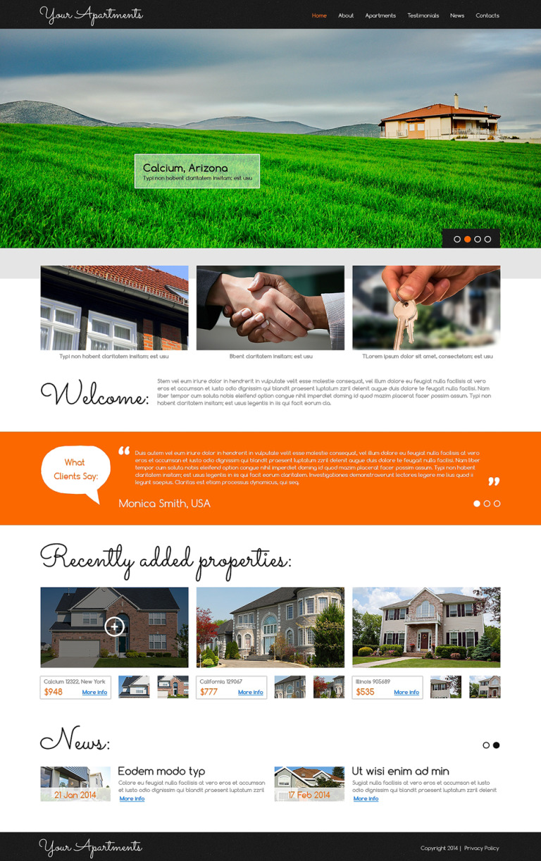 Real Estate Agency Responsive Joomla Template New Screenshots BIG