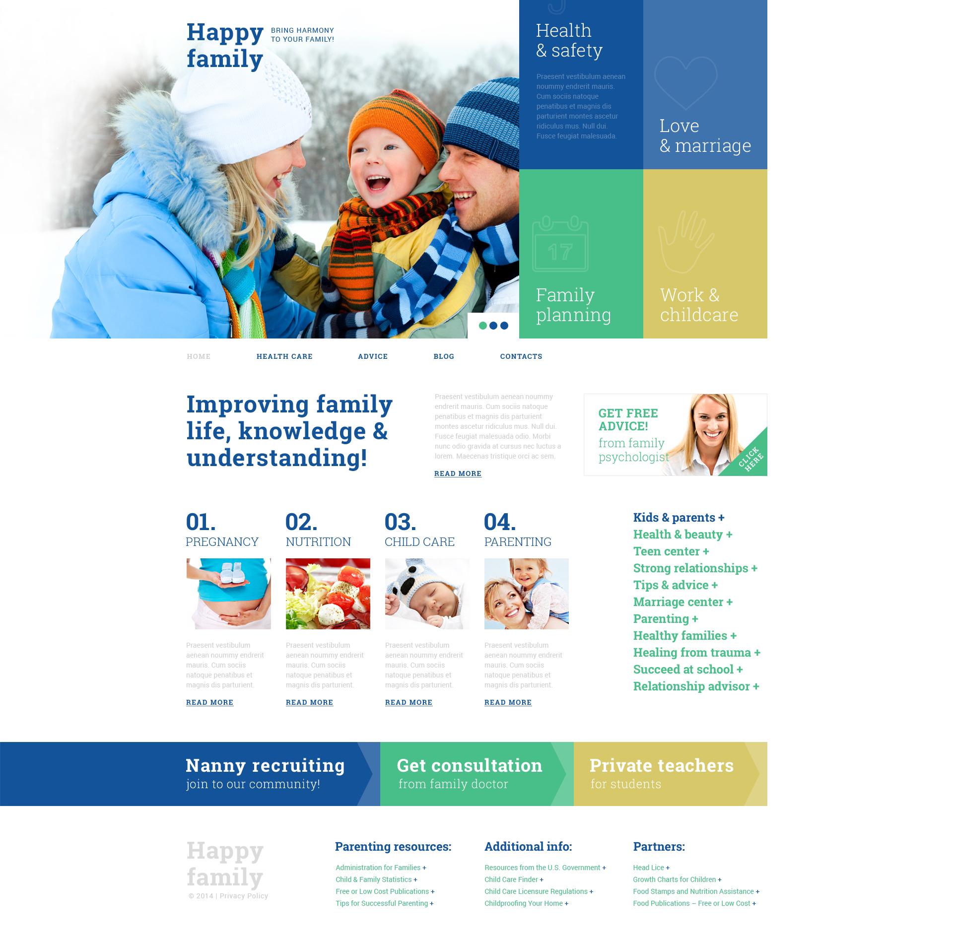 Responsive Aile Merkezi Wordpress #49005