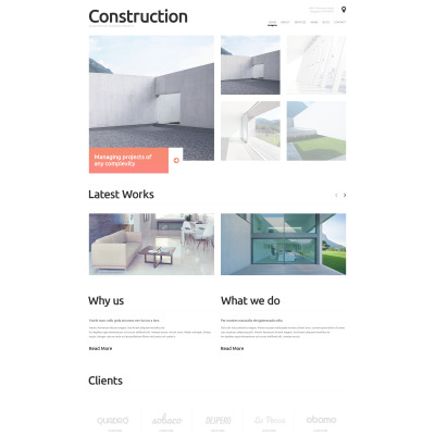 Construction Company Responsive WordPress Teması