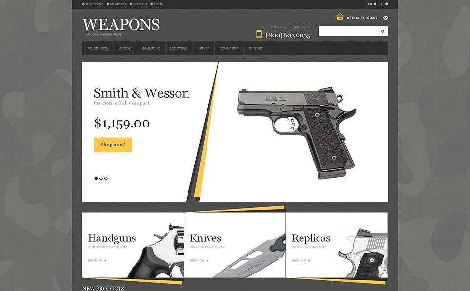 Responsive Silah Mağazası  Magento Teması New Screenshots BIG