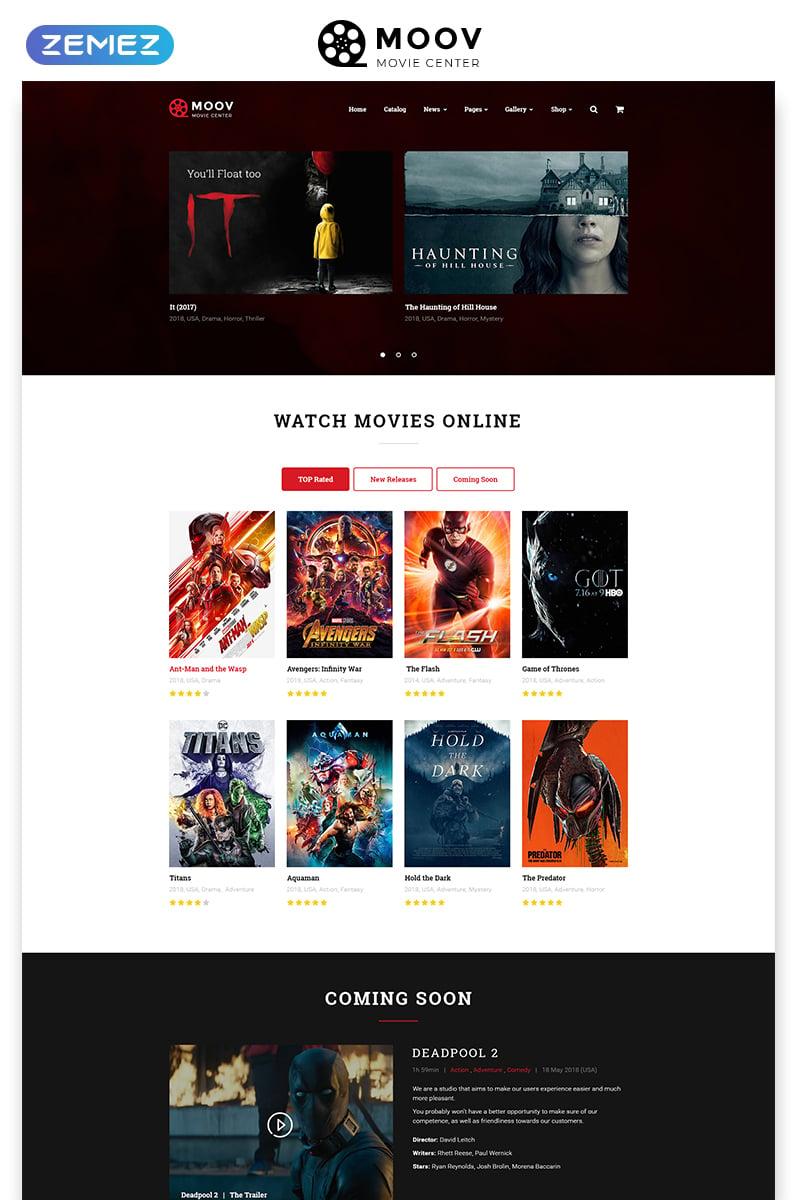 Website Vorlage #49053 für Film