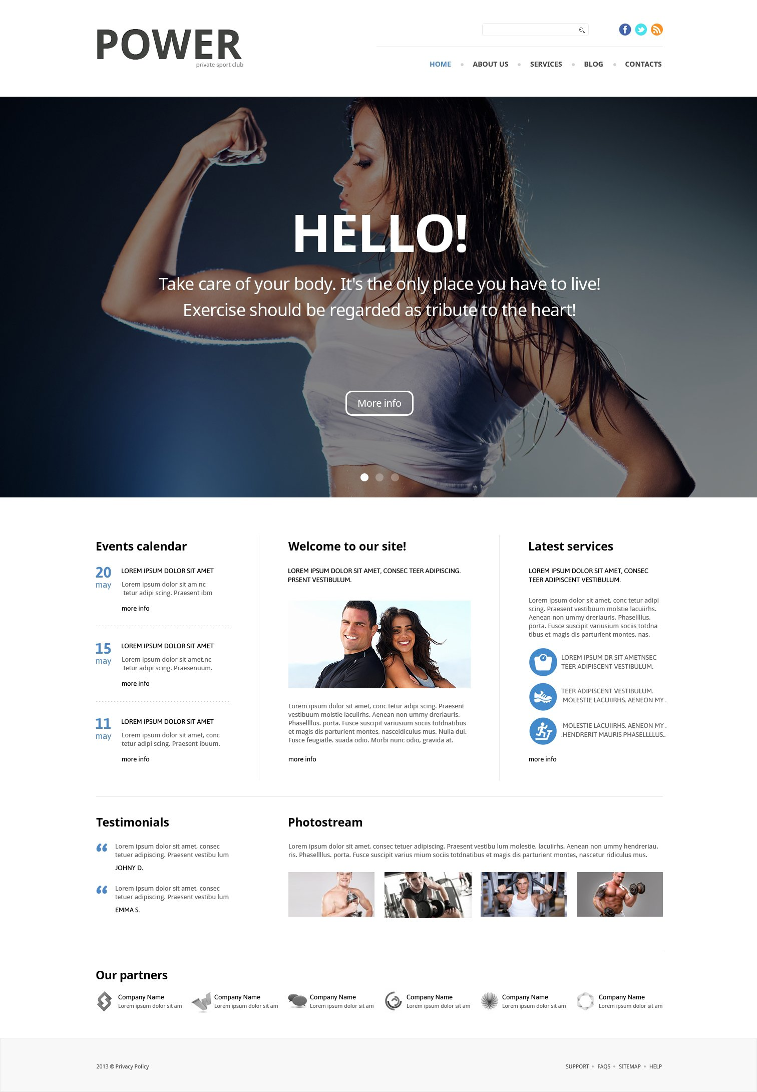 Responsives WordPress Theme für Bodybuilding #49083
