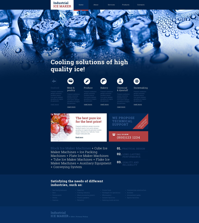 Reszponzív Víz témakörű Weboldal sablon 49072 - képernyőkép