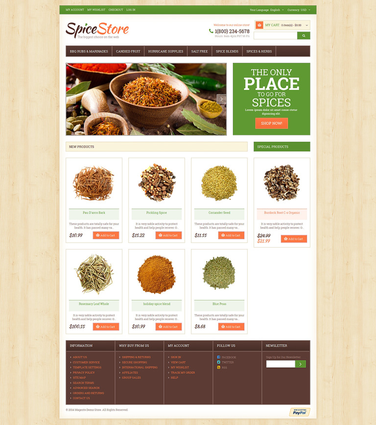 Spice Shop Responsive Magento Theme New Screenshots BIG