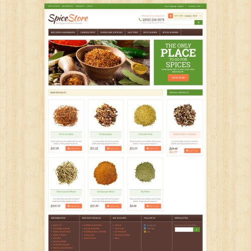 Spice Store - Responsive Magento Template