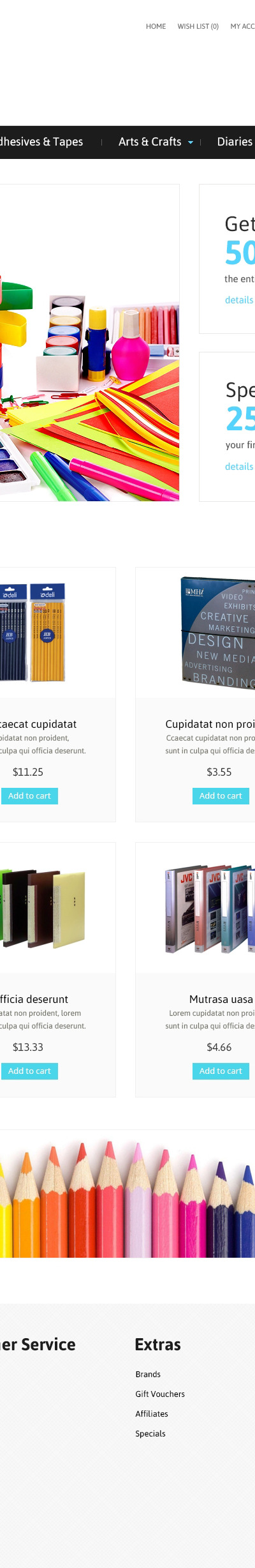 Stationery Responsive OpenCart Template