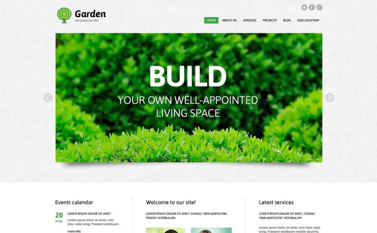 Tema de WordPress #49008 para Sitio de Diseño de jardines