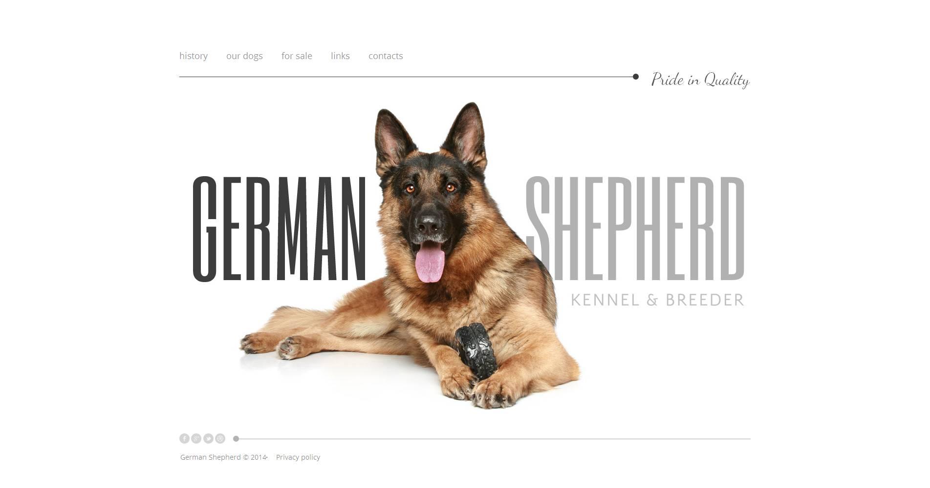 Tema Moto CMS HTML #49035 per Un Sito di Cani