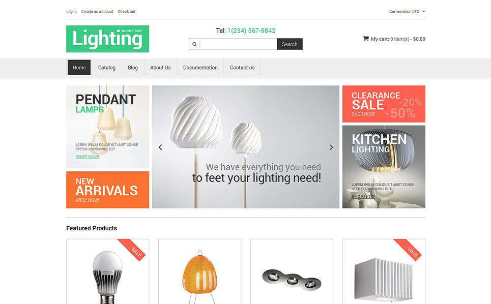 Tema Shopify Responsive para Sitio de Diseño interior New Screenshots BIG