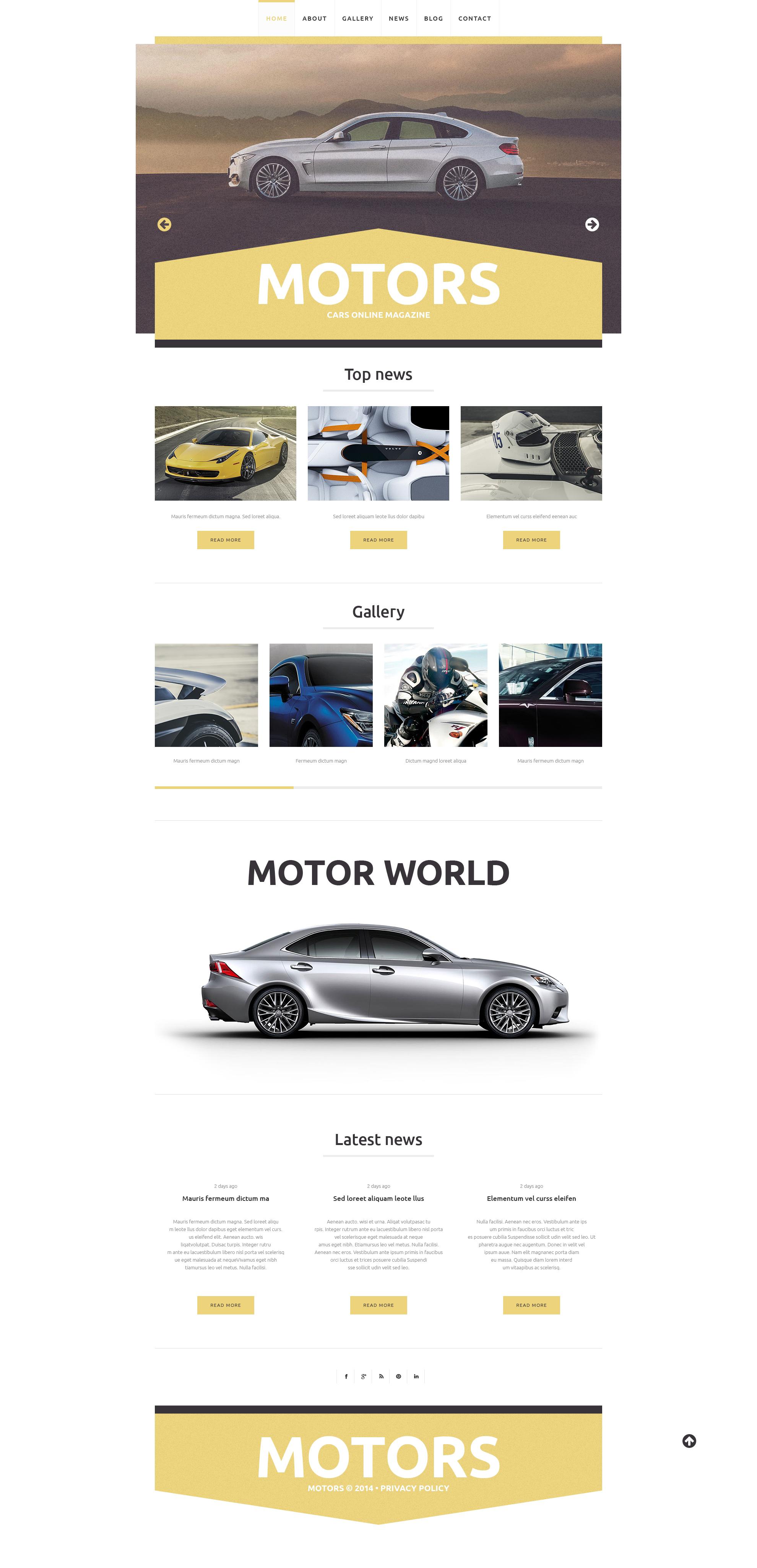 Template WordPress Responsive #49009 per Un Sito di Club Automobilistico - screenshot