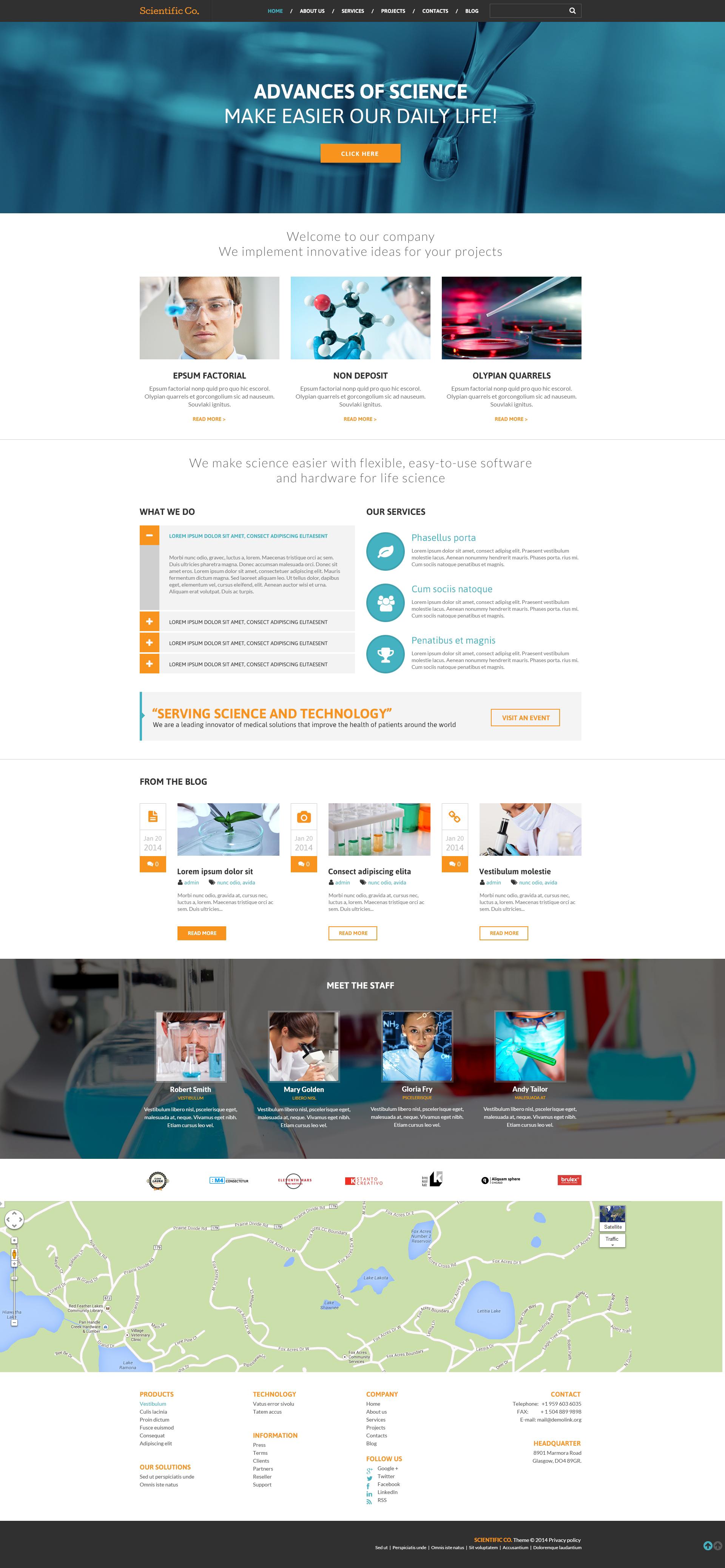 Thème WordPress adaptatif pour site de laboratoire de science #49082