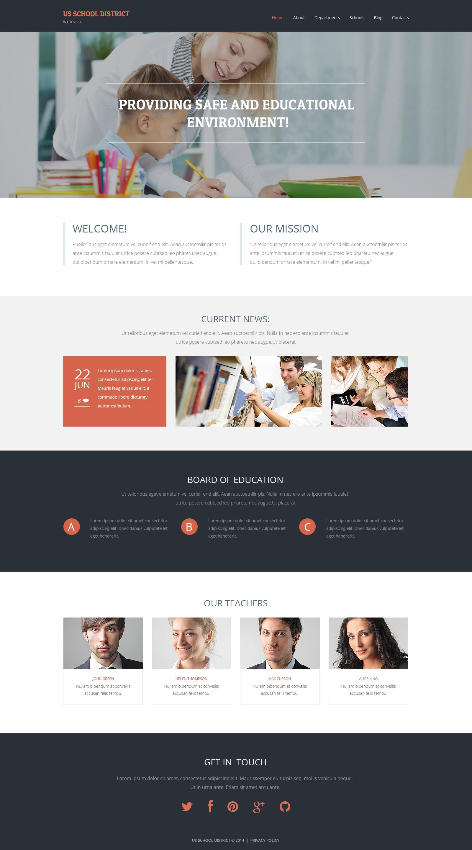 Thème WordPress adaptatif pour site d'école primaire #49081 - screenshot