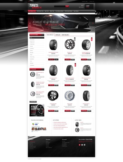 Wheels & Tires Responsive PrestaShop шаблон