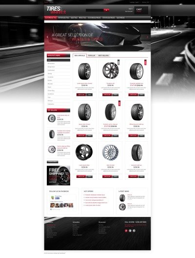 Tires Wheels for Autos PrestaShop Theme