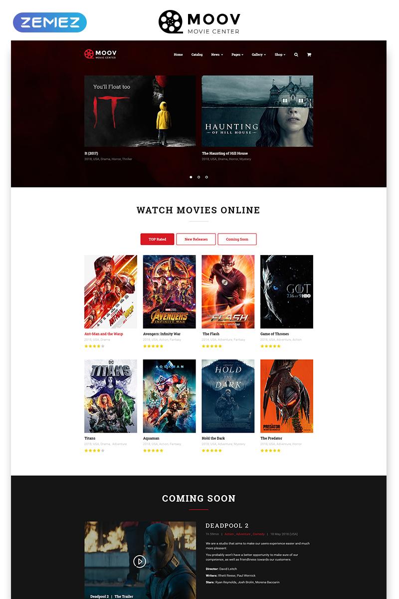 "Website Vorlage namens ""MOOV - Movie Center Multipage Classic HTML"" #49053"