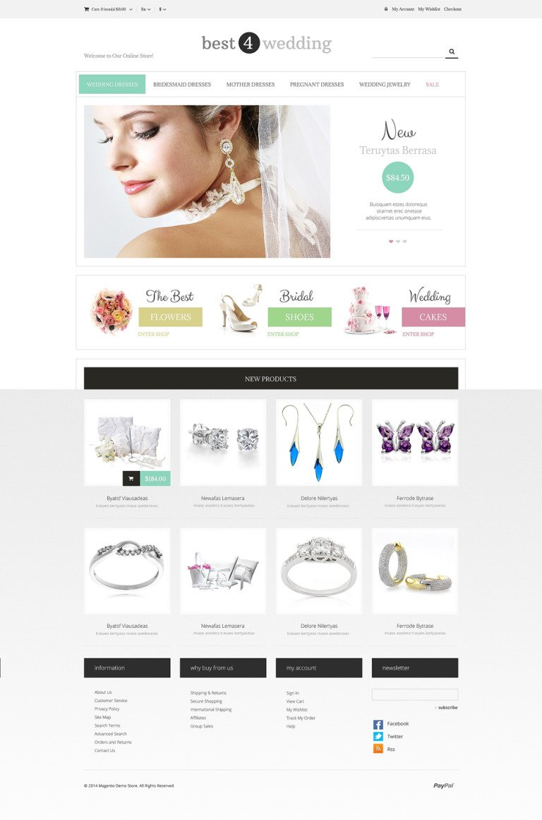 Wedding Shop Responsive Magento Theme New Screenshots BIG