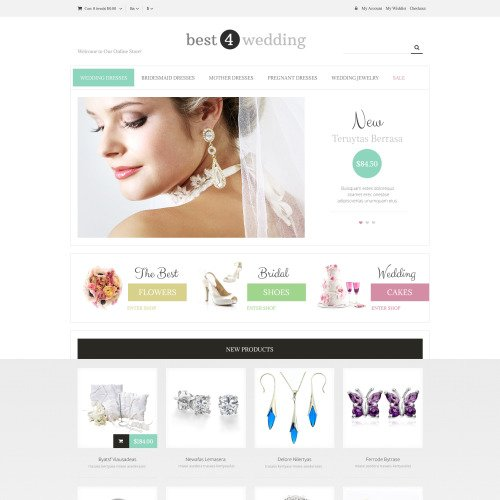 Best 4 Wedding - Responsive Magento Wedding Store Template