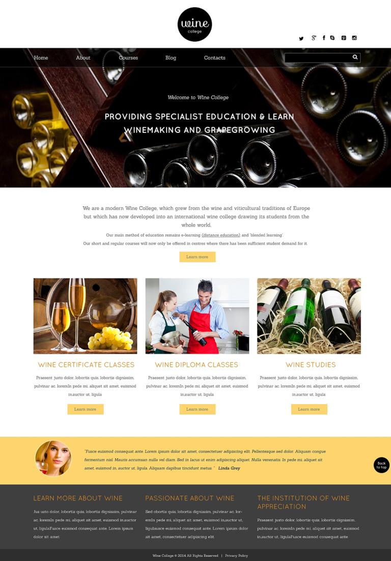 Wine Responsive Website Template New Screenshots BIG
