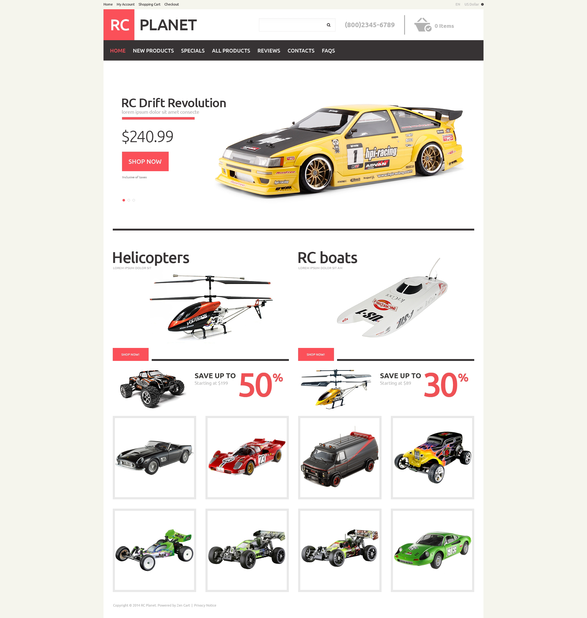 ZenCart Vorlage für Spielzeuggeschäft #49076
