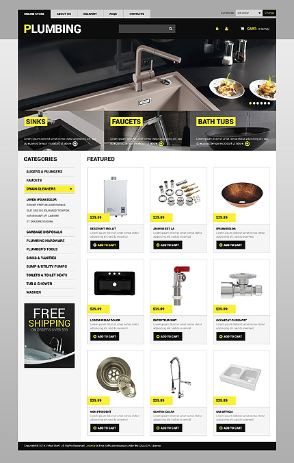 ADOBE Photoshop Template 49101 Home Page Screenshot