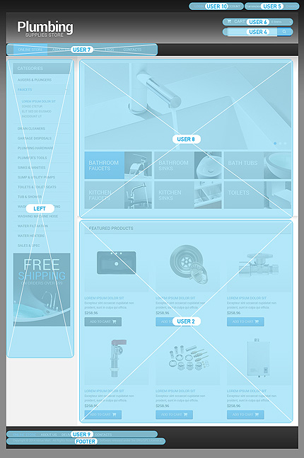 ADOBE Photoshop Template 49103 Home Page Screenshot