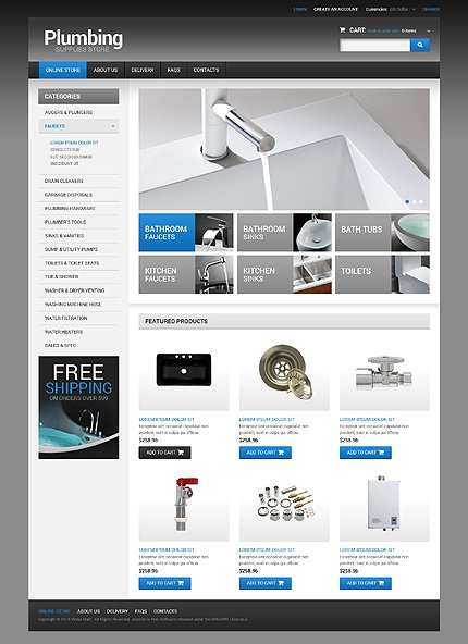 ADOBE Photoshop Template 49103 Home Page Screenshot