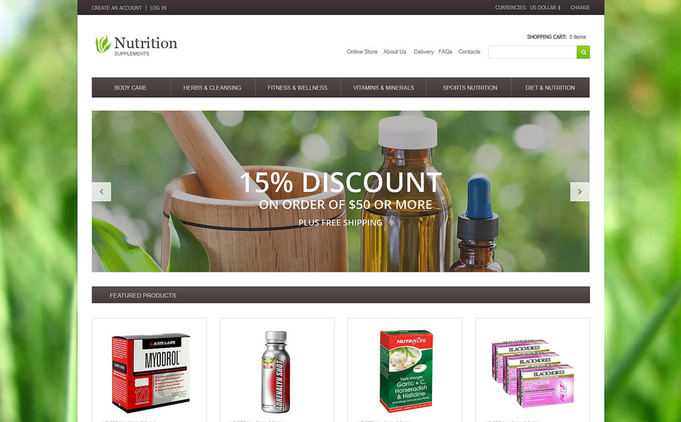 VirtueMart Template over Nutrition  New Screenshots BIG