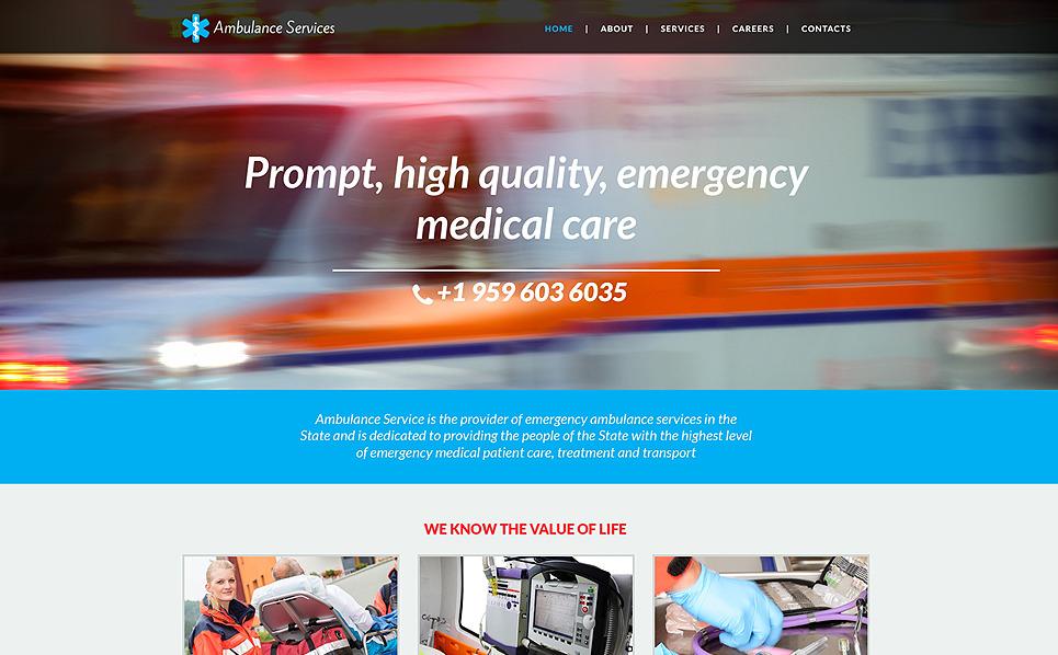 Reszponzív Mentőautók Weboldal sablon New Screenshots BIG