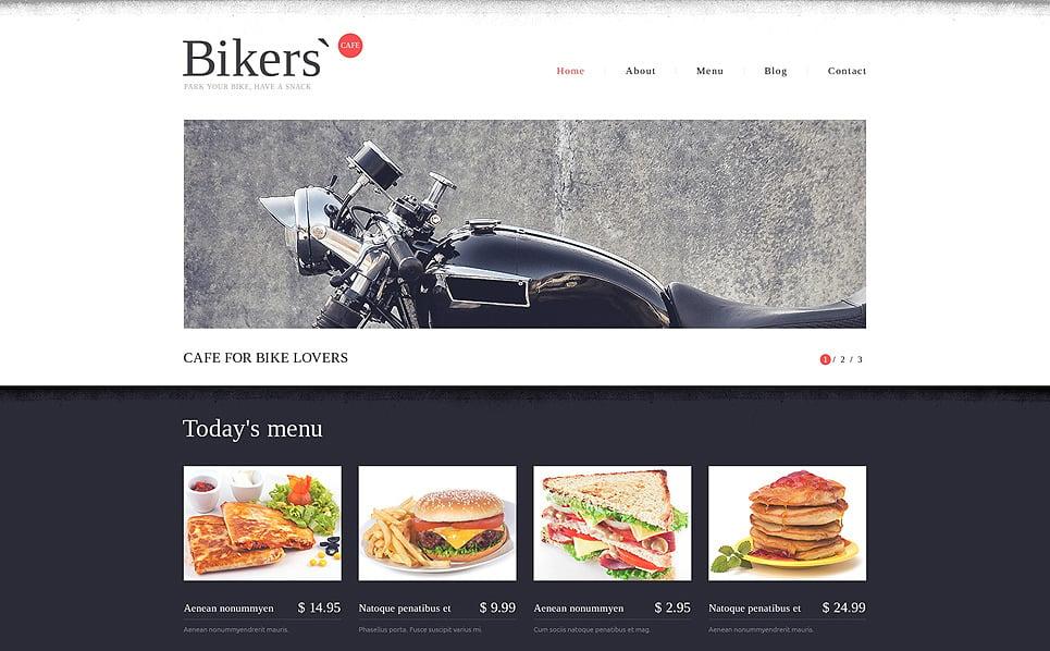 Responsywny szablon strony www #49111 na temat: restauracja Fast Food New Screenshots BIG