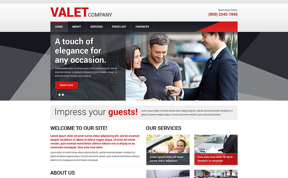Responsive Website template over Autohandelaar New Screenshots BIG