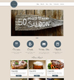 Cafe & Restaurant Website  Template 49133