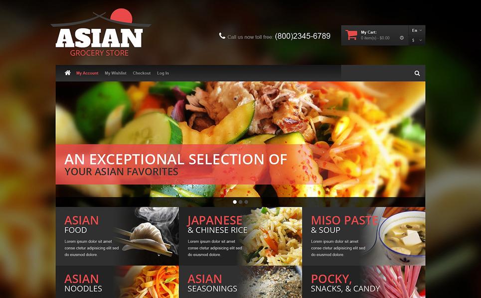 Magento motiv Asijská Restaurace New Screenshots BIG