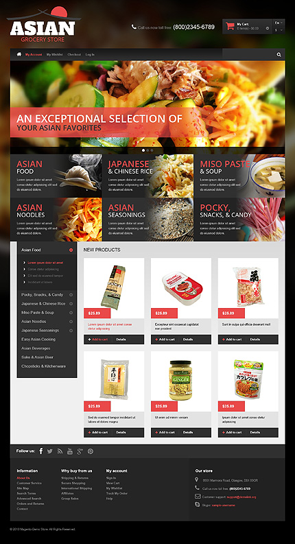 Magento Theme/Template 49144 Main Page Screenshot