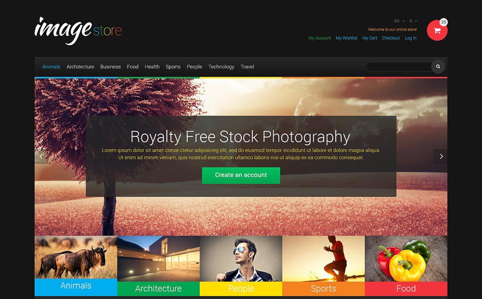 Responsive Magento Thema over Stockfoto's New Screenshots BIG