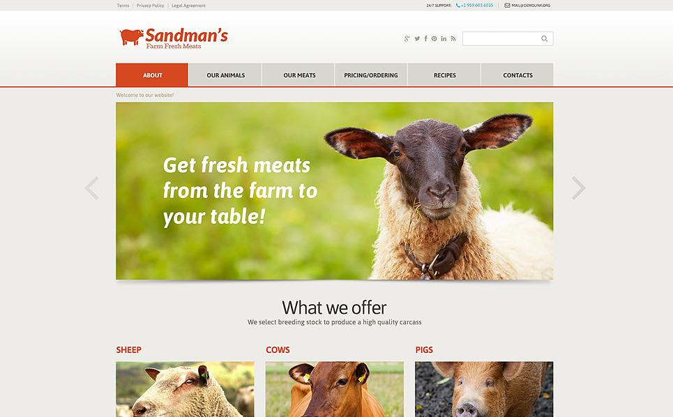 Responzivní Šablona webových stránek na téma Zemědělství New Screenshots BIG