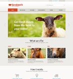 Agriculture Website  Template 49154