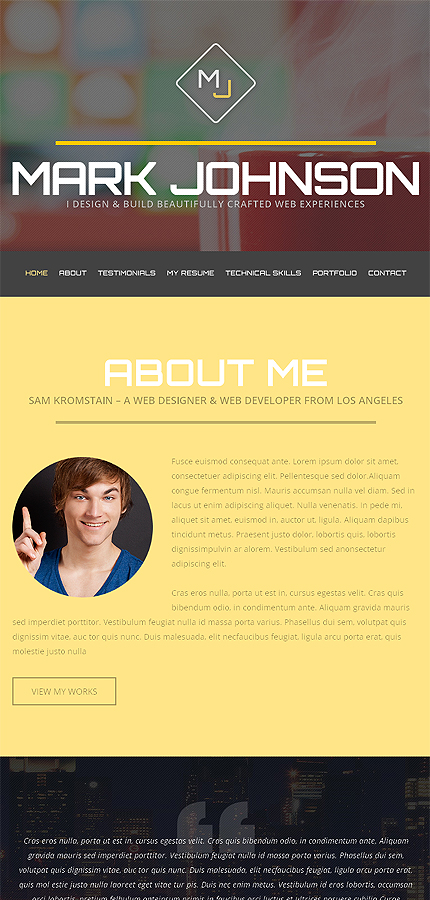 WordPress Theme/Template 49158 Main Page Screenshot
