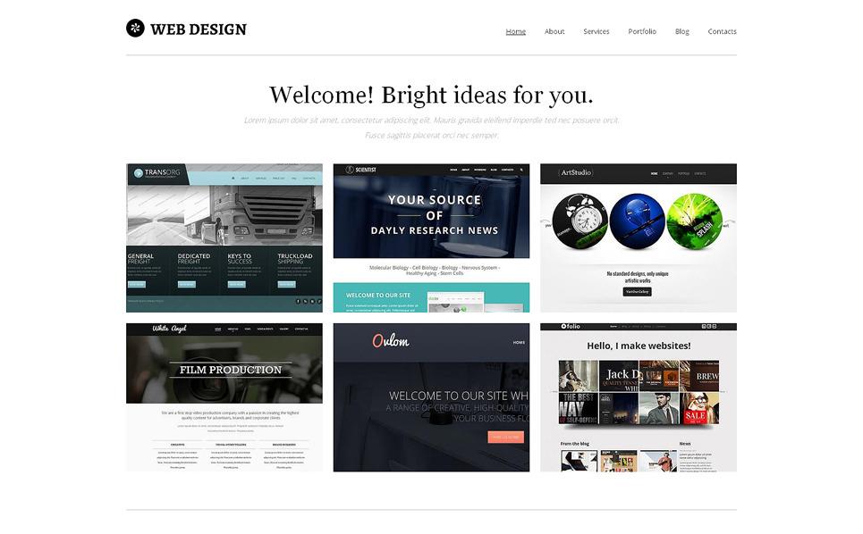 Drupal Vorlage für Designstudio  New Screenshots BIG