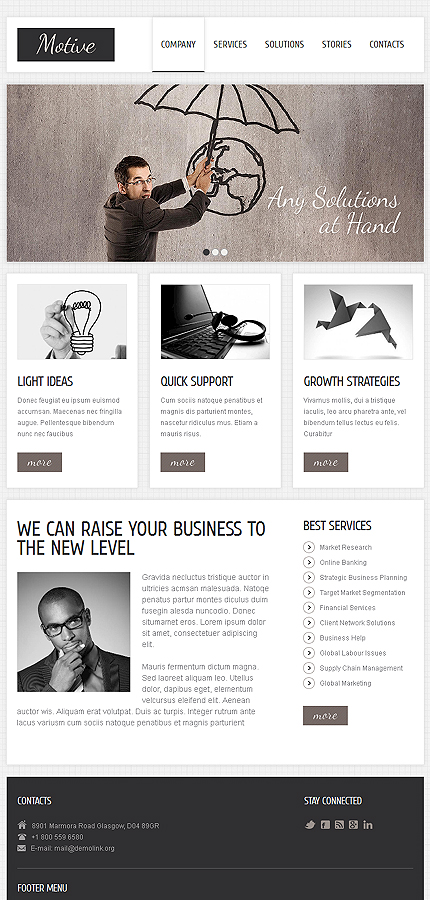 Drupal Template 49163 Main Page Screenshot