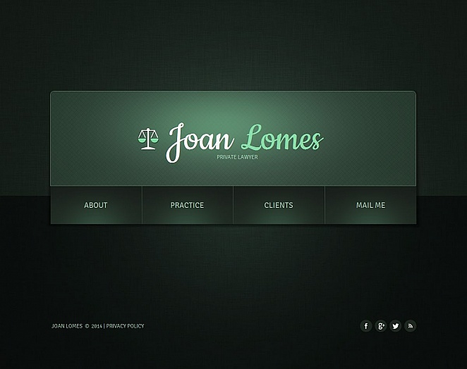 Minimal and Simple Lawyer Website Design in Dark Colors - image