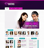 Dating Moto CMS HTML  Template 49172