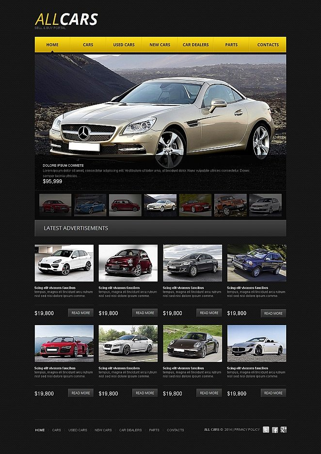 Cars Website Template with CMS - image