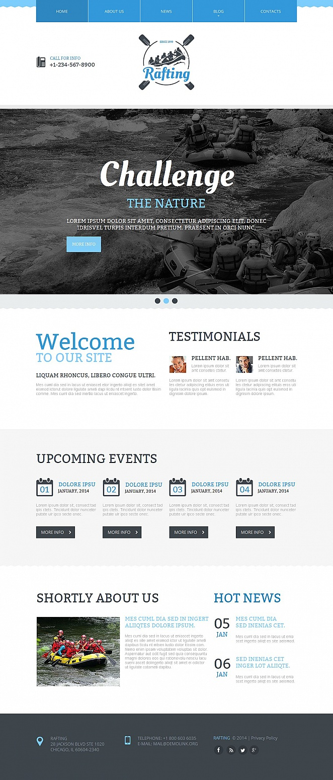 Rafting Website Template with Large Image Slider - image