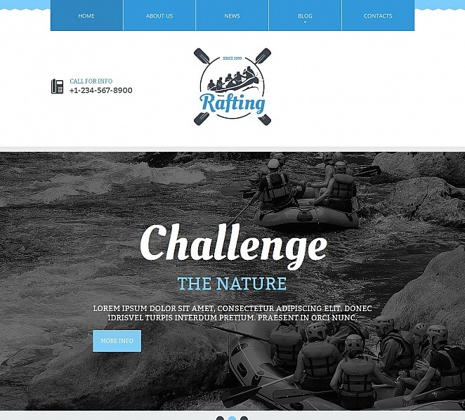 Moto CMS HTML Vorlage für Rafting  New Screenshots BIG