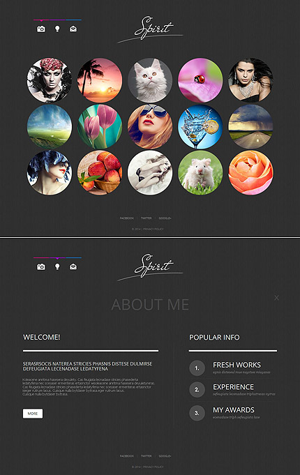ADOBE Photoshop Template 49178 Home Page Screenshot